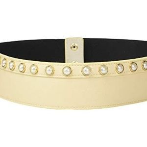 Accessories - White Pearl Studded Stretch Belt